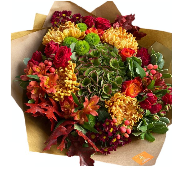 Bouquet of Hydrangea, Chrysanthemum, Alstroemeria, Roses