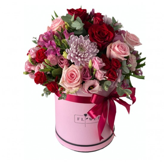 Box of Roses, Spray Roses, Chrysanthemum