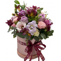 Box of Spray Roses, Eustoma, Fresia and Greens