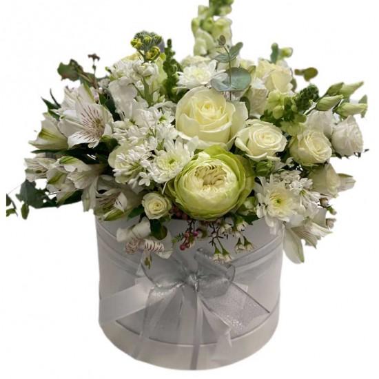 Box of Roses, Alstroemerias, Spray roses, Wax and Antirrhinum