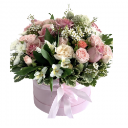 Box of Roses, Spray Roses, Alstroemeria, Wax, Green