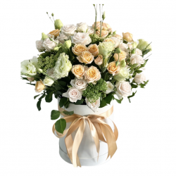 Box of Roses, Spray Rose and Eustoma