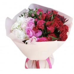 Mix Roses, Spray Roses and Alstroemeria