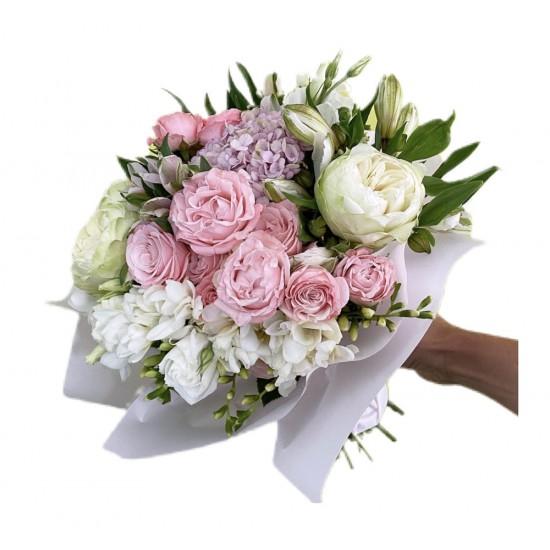 Mix of Roses, Hydrangea, Alstroemeria and Freesia