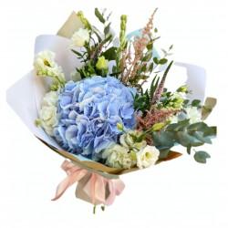 Bouquet of Hydrangea, Eustoma, Eucalyptus