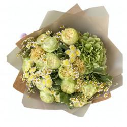 Bouquet of Hydrangea, Roses, Chrysanthemum