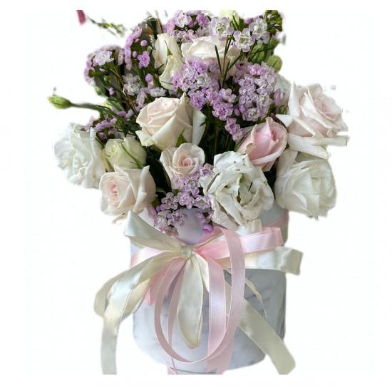 Box of Spray Roses, Wax, Eustoma