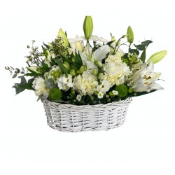 Basket of Lilly, Peonies, Eustoma, Santini, Chrysanthemum