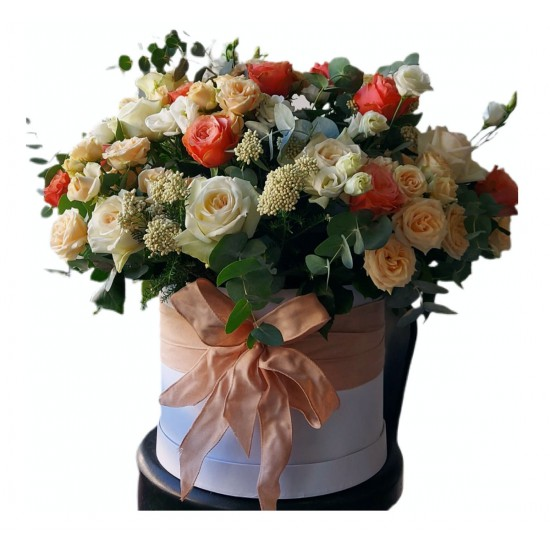 Box of Roses, Spray Roses, Garden Roses, Eustoma
