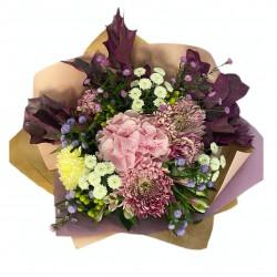 Bouquet of Hydrangea, Alstroemeria, Santini, Carnation, Chrysanthemum, Hypericum