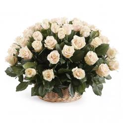 Basket of 51 Roses