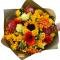 Bouquet of Sunflowers, Spray Roses, Gerberas and Leucospermum