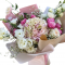 Bouquet of Hydrangeas, Roses and Spray Roses and Eustoma