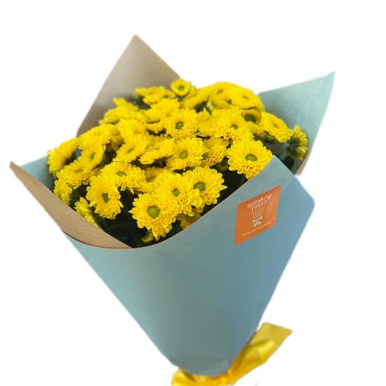 Bouquet of Chrysanthemums Santini Yellow