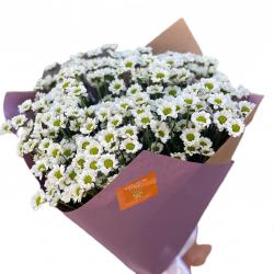 Bouquet of Chrysanthemums Santini White