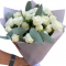 Bouquet of Spray Roses (White) and Eucalyptus