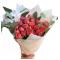 Bouquet of Spray Roses (Orange) and Eucalyptus