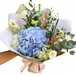 Bouquet of Spray Roses, Hydrangea and Eustoma