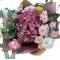Bouquet of Hydrangeas, Eustoma, spray roses