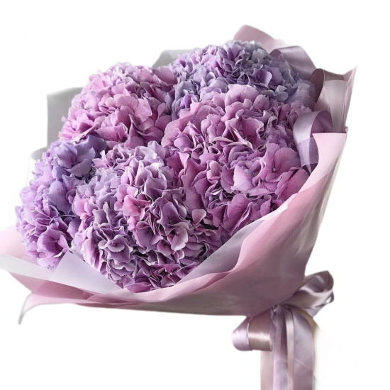 Bouquet of 5 Hydrangeas Pink