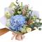 Bouquet of Hydrangea, Eustoma , greens