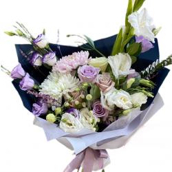 Bouquet of Roses, Eustoma, Chrysanthemum