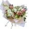 Bouquet of Spray roses,  Roses,  Eustoma; Eucalyptus