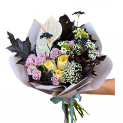 Bouquet of Spray roses,  Roses,  anthurium