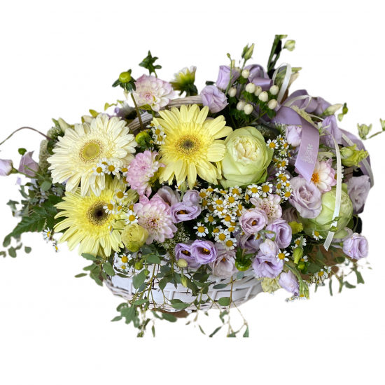 Baskets of Roses, Gerberas and Eustoma