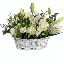 Basket of Lilly, Eustoma, Santini, Chrysanthemum