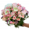 Bouquet of Roses and Spray Roses