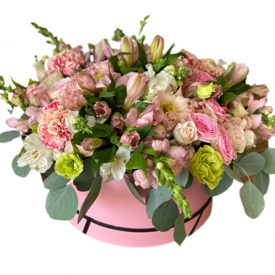 Box of Spray roses, Alstroemerias and Carnations