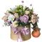 Box of Spray roses, Chrysanthemum, Eustoma