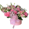Box of roses, peonies and Hydrangea