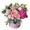 Box of Hydrangea, Roses, Eustoma and Carnations