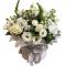 Box , Roses, Eustoma and mini roses