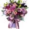 box of roses, Eustoma, chrysanthemums