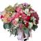 Box with hydrangea, roses, Eustoma, alstroemerias
